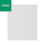 GoodHome Pasilla Matt white thin frame slab Drawerline door & drawer front, (W)600mm
