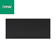GoodHome Pasilla Matt carbon thin frame slab Drawer front, bridging door & bi fold door, (W)800mm