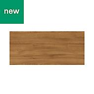 GoodHome Chia Horizontal woodgrain effect slab Drawer front, bridging door & bi fold door, (W)800mm