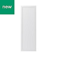 GoodHome Artemisia Matt white classic shaker Tall Larder Cabinet door (W)500mm