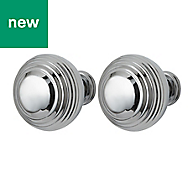 GoodHome Garni Chrome effect Cabinet handle (L)32mm, Pack of 2