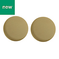 GoodHome Gomasio Brass effect Cabinet handle (L)26mm, Pack of 2