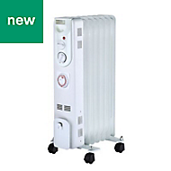 Electric 1500W White Oil-filled radiator