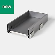 GoodHome SOTO Matt Anthracite Kitchen drawer unit, 264mm
