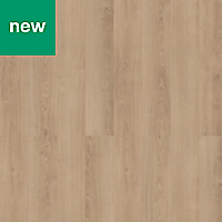 Leone Warm oak effect Laminate flooring, 1.75m² Pack