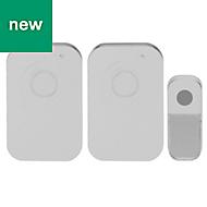 Liam White Wireless Battery-powered Door chime kit 21226WKF