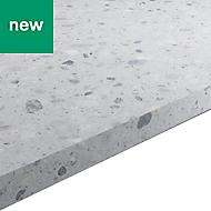 22mm Algiata Matt Grey Stone effect Chipboard & laminate Square edge Kitchen Worktop, (L)3000mm