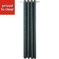 Pahea Dark green Chenille Unlined Eyelet Curtain (W)135cm (L)260cm