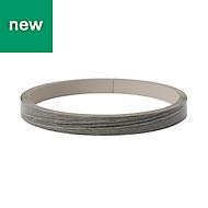 GoodHome Chia Oak effect Grey Edging tape, (L)10m