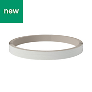 GoodHome Alpinia Painted Wood effect Ivory Edging tape, (L)10m