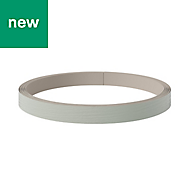 GoodHome Alpinia Painted Wood effect Grey Edging tape, (L)10m