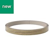 GoodHome Alpinia Light oak effect Edging tape, (L)10m