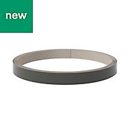 GoodHome Stevia & Garcinia Gloss Anthracite Edging tape, (L)10m