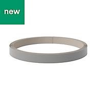 GoodHome Alisma High gloss Grey Edging tape, (L)10m