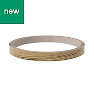 GoodHome Verbena Natural oak shaker Edging tape, (W)19mm