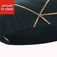 Panaji Geometric Dark green Cushion