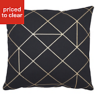 Panaji Geometric Black Cushion