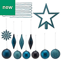 Blue Assorted Decoration, Pack of 50