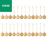 Gold Assorted Bauble, Pack of 24