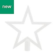 White Glitter effect Star Tree topper