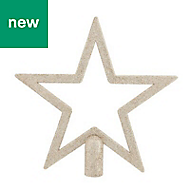 Champagne Glitter effect Star Tree topper