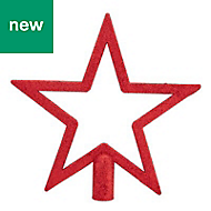 Red Glitter effect Star Tree topper