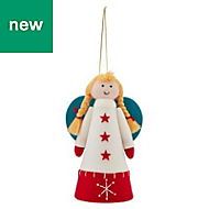 Blue, red & white Fairy Tree topper