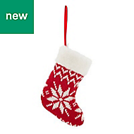 Red Knitted stocking Decoration