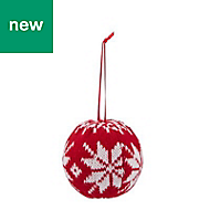Red Knitted Bauble