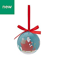 Multicolour Gloss Vintage santa Bauble