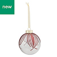 Red Glitter effect Bauble