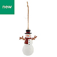 White Snowman Decoration