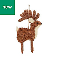 Rustic reindeer Decoration