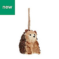 Rustic hedgehog Decoration