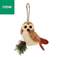 Rustic owl Decoration