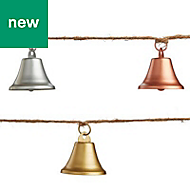 3m Metal bell Garland