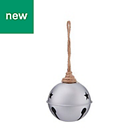 Metal Silver effect Bell design Decoration