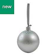 Silver Bluetooth speaker Christmas bauble