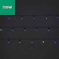 50 Cold white & blue LED String lights