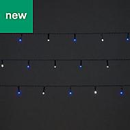240 Cold white & blue LED String lights
