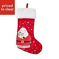 Red & white Santa Stocking