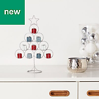 Silver Glitter effect Table top tree