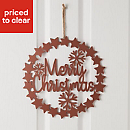 30cm Metal Merry Christmas Wreath