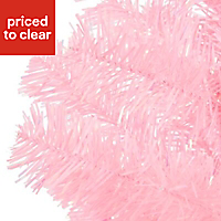 3ft Orelle Pink tinsel Artificial Christmas tree