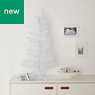 3ft Orelle White tinsel Artificial Christmas tree
