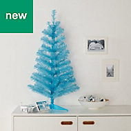 3ft Orelle Blue tinsel Artificial Christmas tree