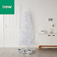 6ft Orelle White tinsel Artificial Christmas tree
