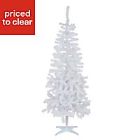 6ft Orelle White tinsel Artificial Christmas tree