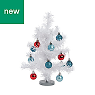 White Metallic effect Table top tree