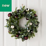 60cm Decorated bauble Wreath